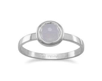 round chalcedony ring