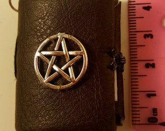 Hand made miniature book with clasp. miniature book charm  journal/ spell book/ diary
