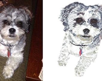 Custom drawing of your pet (dog, cat, bird, etc.) - Pointillism