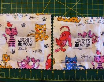 2 MEGA CATNIP Ravioli - Pretty Kitty Print - 5 g High Potency Pure Catnip in Each Toy