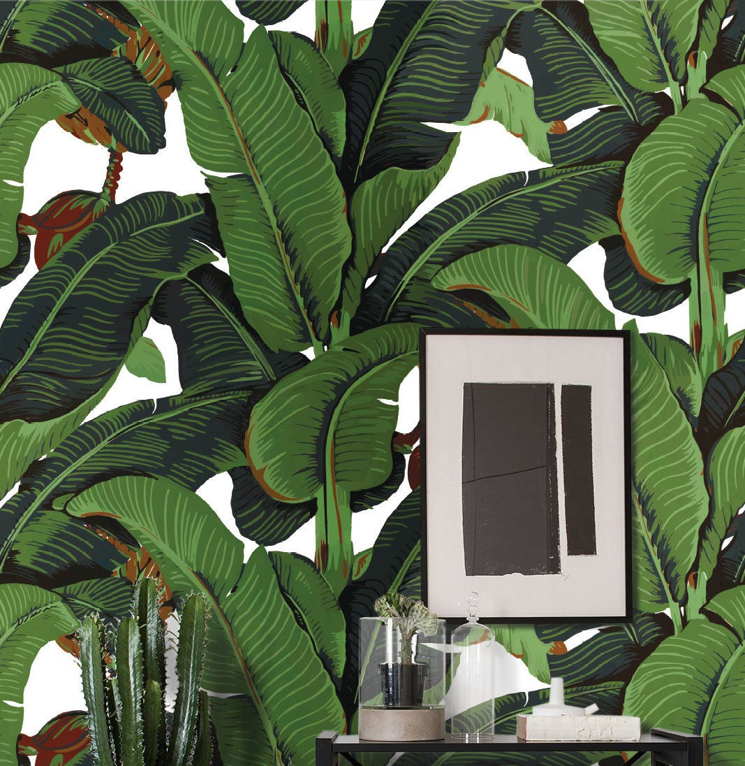 Best Banana Leaf Wallpaper, banana leaf, martinique, tropical wallpaper  NY44