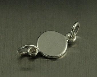 Sterling Silver Stamping Circle Link--Stampable Link--Linking Charm--Circle Festoon--Blank Circle Link--Connector Charm--Small Stamping Link