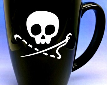 Sewing Skull 14 oz Coffee Mug