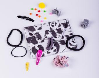 Hair Clip case Panda, hair Clip bag Panda