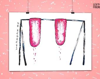 Mature Art Print, Boob print, Getting Old Birthday, Feminist Art, Feminist Print, Dorm Room Art, Tits Print, Funny Print, Boob Swing