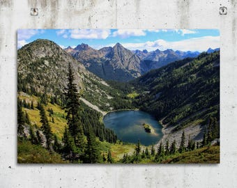 Maple Pass Trail Lake - Hiking, Scenic, Photography - North Cascades, Washington - Fine Art Print - Canvas Gallery Wrap - Metal Print