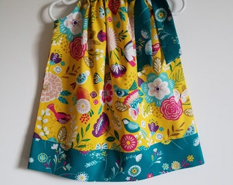 Pillowcase Dress with Flowers Girls Dress with Birds Floral Dress with Butterflies baby dresses toddler dresses Summer Dresses for Girls
