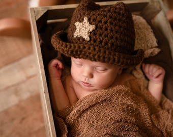 Baby Cowboy Hat - Toddler Cowboy Hat - Western Photo Prop - Cowboy Costume - Cowgirl Hat - Woody Costume Hat - Infant Cowboy Hat