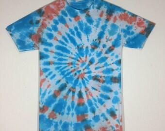 Center Spiral Orange / Blue Tie Dye (S)