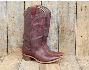Us 5.5 Western Boot 36 Western Boot Oxblood Western Boot Oxblood Cowboy Boot 36 Laredo Boot uk 3.5 Laredo Boot 36 cuban heel Pointed toe