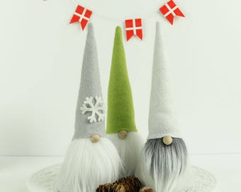 Nordic Gnomes, VIKTOR, Snowflakes, Gnome, Nisse, Tomte, Tomten, House Gnome, Scandinavian Gnomes, Gnome Gifts for Her, Traditional Gnomes