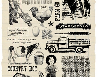 Farm Boy Rubber Stamp Collection