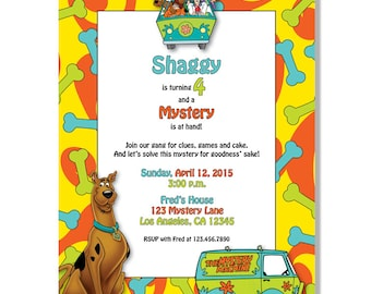 Scooby Doo Birthday Invitations - Digital File Download