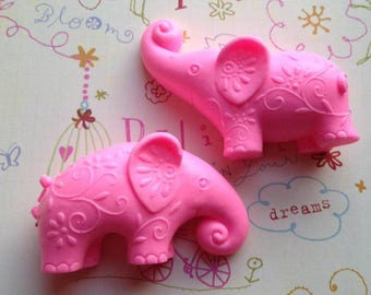 Elephant Soap, Set of 2, Bath Soap, Gift Soap, Novelty Soap, You pick scent & color