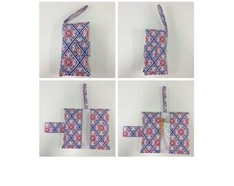 Nappy Wallet - Blue Pink Pattern