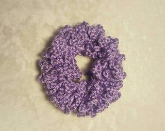 Lavender Crochet Hair Scrunchie, Hair Tie, Scrunchies, Scunchi, Hair Accessories, Ponytail Holder