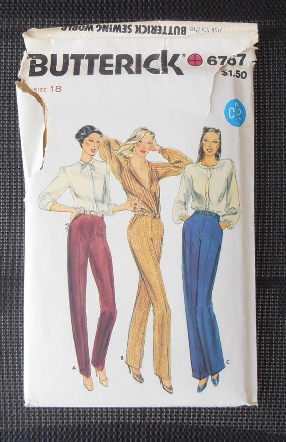 Butterick 8756 Muster Damen Hosen Nähen Muster Größe 18