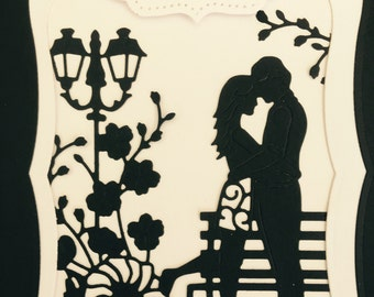 3D wedding card, 3d romantic couple card, wedding congratulations card, marriage card wedding shower card, handmade card, bridal card