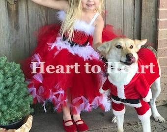 Christmas tutu, Santa Baby Tutu, Girls Mrs Claus Costume, Holiday dress, Xmas dress, Christmas tutu outfit, Mrs.Clause tutu, Pageant dress