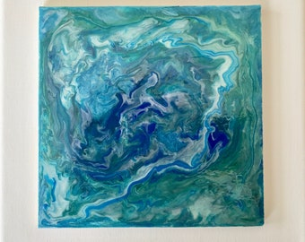 Blue-Green Swirl  6x6