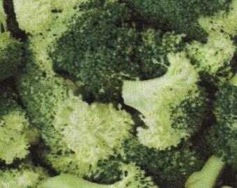 Farmer's Market broccoli fabric by RJR