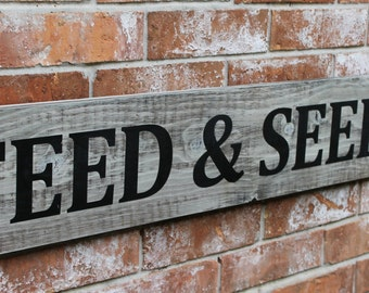 Feed and Seed Co. Sign, Fixer Upper Sign, 8X46 Sign, Farmhouse Sign, Wood Kitchen Sign, Feed and Seed Sign, Wall Decor Sign, Feed and Seed