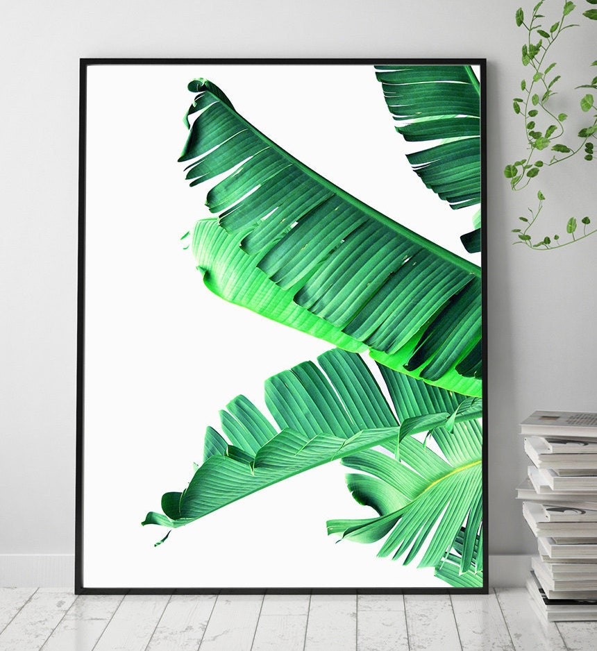 Banana Leaf Printable Art Art Prints Scandinavian Print