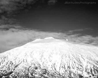 Mountain Photograph, Landscape, Iceland, Modern, Minimalist, Large Wall Art, Home Decor, Black and White Photography, Mountain Peak, Glacier