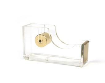 Acrylic Tape Dispenser in Gold