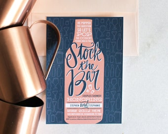 PRINTABLE Bridal Shower Invitation | Stock The Bar
