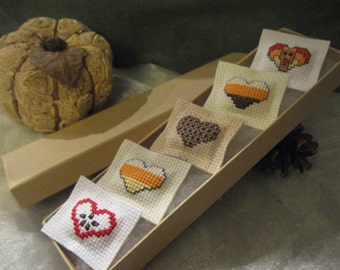 Autumn Magnet Heart Set