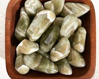 Prasiolite tumbled stone