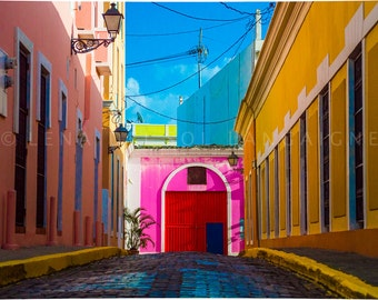 Puerto Rico photography, Caribbean, Doors, San Juan, Puerto Rico, Wall decor, Travel photography, landmark, Tropical decor, Gift idea