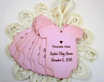 Custom Thank You Gift Tags, Shower Favor Custom Tags, Custom Party Thank You Tags