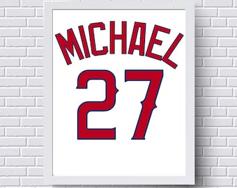 Los angeles dodgers print poster baseball jersey gift for los angeles angels print poster baseball jersey gift for him personalized baby custom baby boy gift nursery print wall art negle Image collections