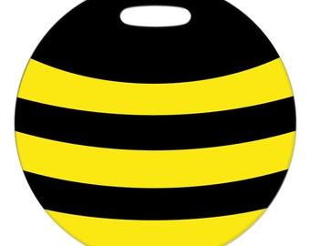 Luggage Tag - Bee - Round Large Plastic Bag Tag