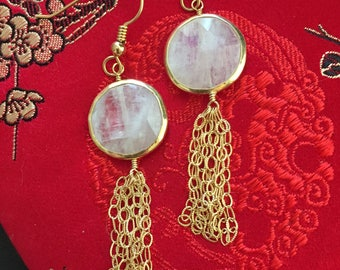 Moonstone and 14kt Gold Filled Earrings