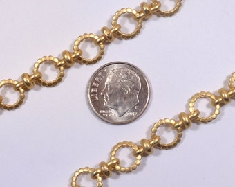 Beaded Circle Chain - Matte Gold - CH154-MG - Choose Your Length