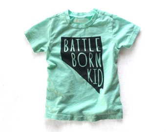 LIMITED EDITION Mint Battle Born Kid, Nevada, Toddler, Kid Graphic T-shirt