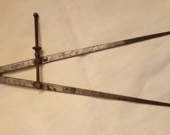 """Vintage Starrett Inside Caliper / Tool / 13"""" / Working / L@@K!!"""