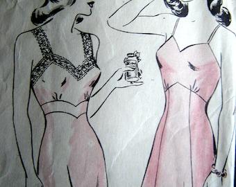Vintage HOLLYWOOD sewing pattern #1473 slip size 32 bust