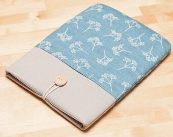 Kobo Aura case /  kindle sleeve / Kindle paperwhite case / kindle Fire - Blue floral