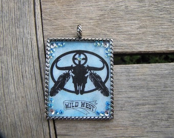 Custom Made Wild West Graphic Pendent