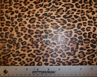 """ReSTOCKED Leather 8""""x10"""" Mini TAWNY Tan Cheetah / Leopard Print Soft Grain NOT hair on Cowhide 2.5oz / 1mm PeggySueAlso™ E6730-01"""