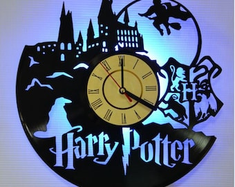 Harry Potter led night light, harry potter nightlight, harry potter vinyl record clock, harry potter vinyl wall clock