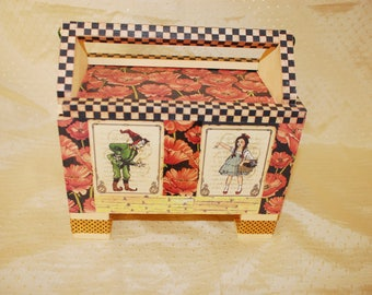 Wizard of Oz Jewelry, Keepsake, Trinket Caddy with Sliding Top and Handle