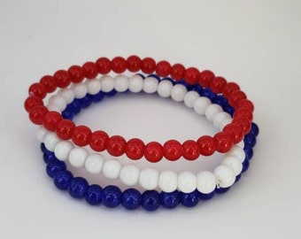 4th of July Independence Day Bracelets/patriotic bracelet/4th of July bracelet
