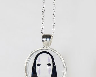Spirited Away No face Pendant necklace or key ring