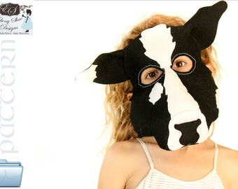 Cow Mask PATTERN- Kids cow costume sewing pattern PDF file