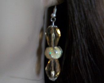 Crystal quartz earring